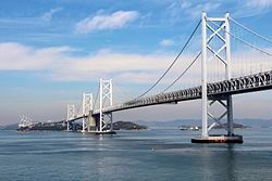 南备赞濑户大桥(前方)与北备赞濑户大桥(后方)