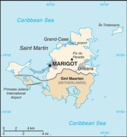 法属圣马丁包含圣马丁岛的北部.
