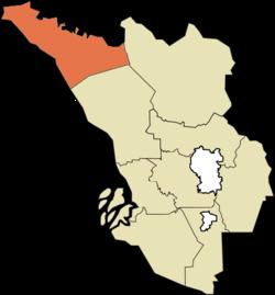 沙白安南县在雪兰莪的位置