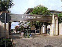Babelsberg Studio near Berlin gate with pedestrian island