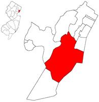 泽西市在新泽西州中的位置