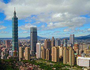 台北市信义区天际线