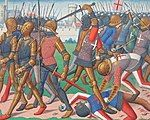 The Vigils of Charles VII, a manuscript of Martial d'Auvergne depicting the Battle of Cravant, dated to around 1484