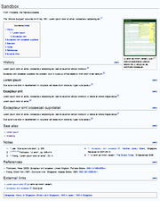 An article with a table of contents block and an image near the start, then several sections