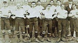 Football team in uniform