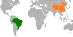 Brazil和China在世界的位置