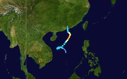 台风利奥的路径图