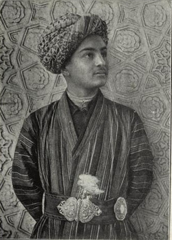 A Uzbek civilian in traditional 1911 clothings.
