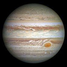 An image of Jupiter taken by NASA's Hubble Space Telescope