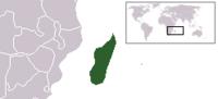 Location of Madagascar