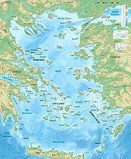 Aegean Sea map bathymetry-fr.jpg
