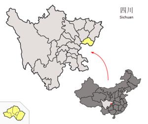图中高亮显示的是广安市