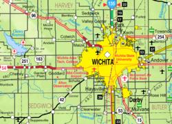 KDOT(英语:Kansas Department of Transportation)塞奇威克县(图示)