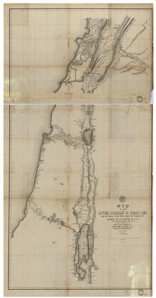 A detailed map of Palestine from the 19th century