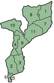 莫桑比克行政区划