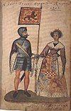 Robert I and Isabella of Mar, Seton Armorial.jpg