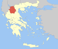 Location of 西马其顿 Periphery in Greece