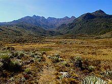 Valle de Morrena y pico Mucuñuque, Sierra de Santo Domingo.JPG