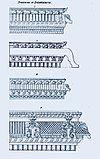 1834 sketch of prastaras, entablature elements in Hindu temple architecture.jpg