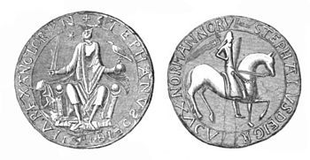 A drawing of King Stephen's Great Seal
