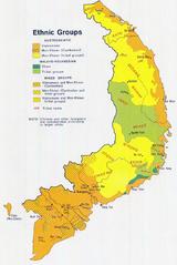 南越民族地图