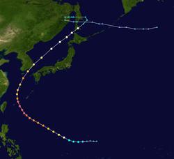 台风莎拉的路径图