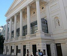 exterior of a neo-classical theatre