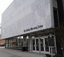 Facade of Dallas Morning News office in Dallas.jpg