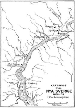 新瑞典1650年地图, Amandus Johnson(英语:Amandus Johnson)制作