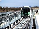 Linimo train moving on its track