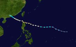 台风鹦鹉的路径图