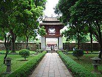 The Temple of Literature in Hanoi