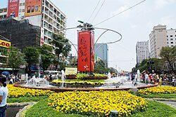 南部胡志明市新年街景