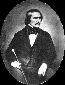 Daguerreotype of Gogol taken in 1845 by Sergei Lvovich Levitsky (1819–1898)