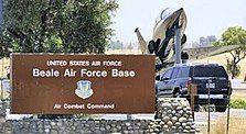 Beale Air Force Base main gate