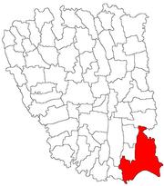 Location in Galați County