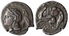 Silver coin from Velia