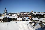 Røros town panorama in winter.