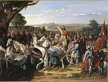 El rey Don Rodrigo arengando a sus tropas en la batalla de Guadalete (Museo del Prado).jpg