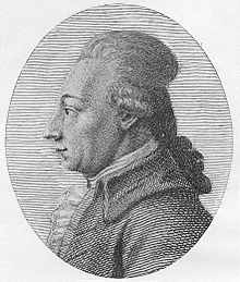 Black-and-white image of Friedrich August Wolf in profile