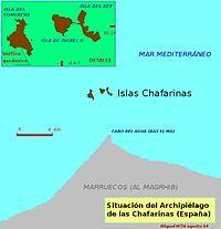 Location of Chafarinas Islands