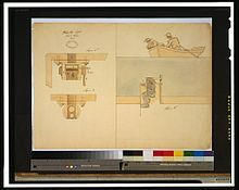 """Illustration by Robert Fulton showing a """"plunging boat"""""""