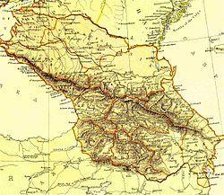 外高加索民主联邦共和国的位置
