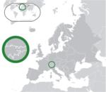 Map showing Liechtenstein in Europe