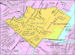 人口普查局的伊丽莎白地图