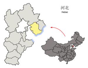 图中高亮显示的是唐山市