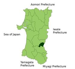 仙北郡行政区域图