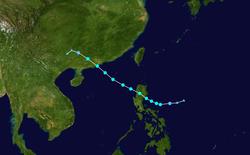 强热带风暴帕卡的路径图