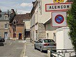 Alençon (Orne) city limit sign.jpg