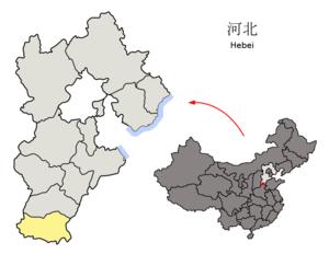图中高亮显示的是邯郸市